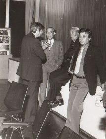 (v.l.n.r.) Carlo Schmidt, Dr. Laschnal, Otto Boehringer, Philip Münch, 1978, Ingelheim
