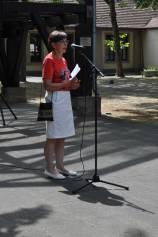 Ortsvorsteherin Karin Trautwein eröffnet das Maifest